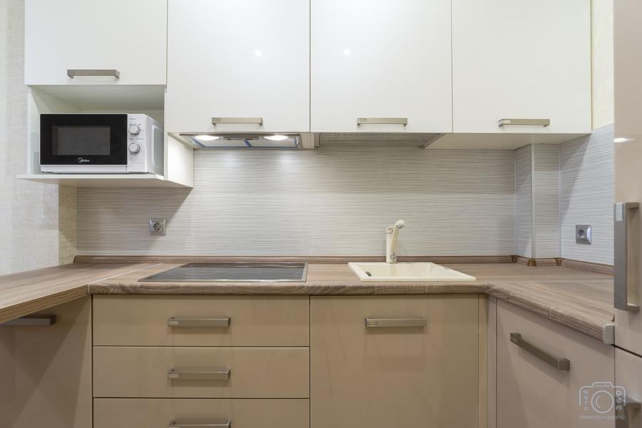 Бежевые кухни-Кухня из пластика «Модель 1»-фото6
