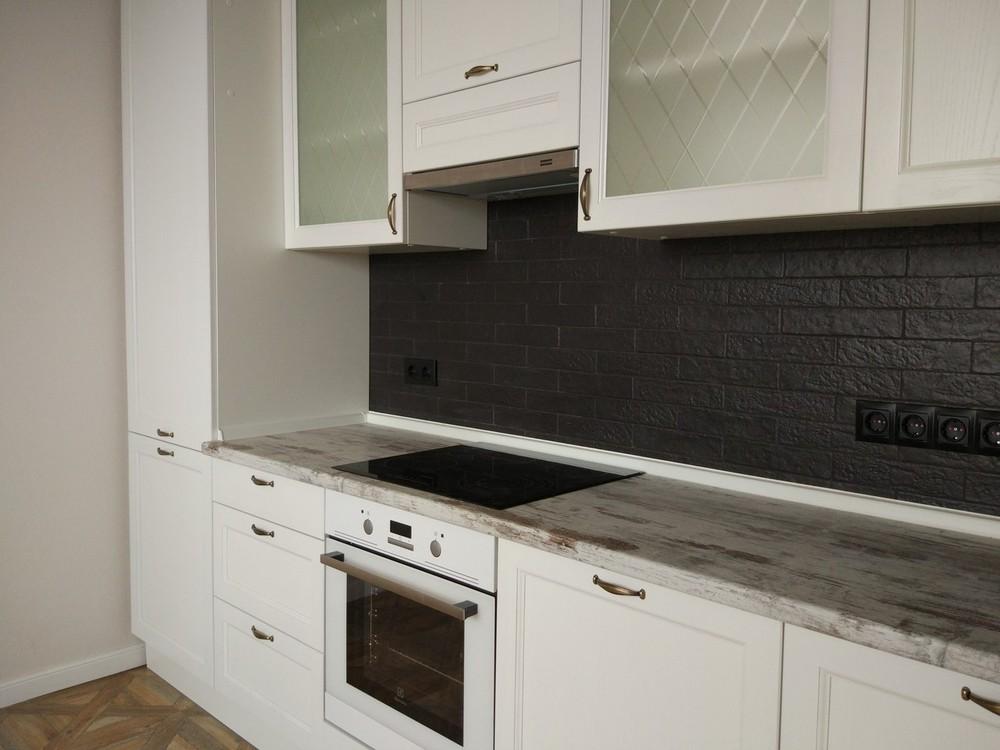 Белый кухонный гарнитур-Кухня из массива «Модель 218»-фото2