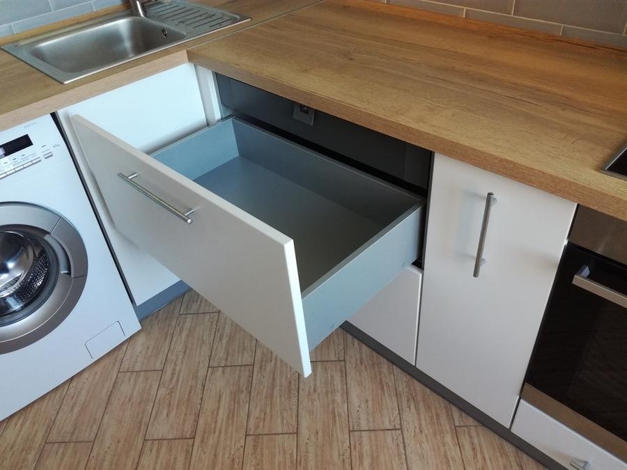Белый кухонный гарнитур-Кухня МДФ в ПВХ «Модель 122»-фото8