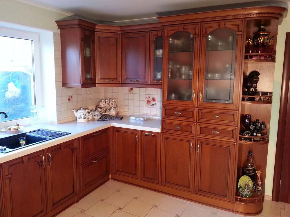 Встроенная кухня-Кухня из массива «Модель 211»-фото1