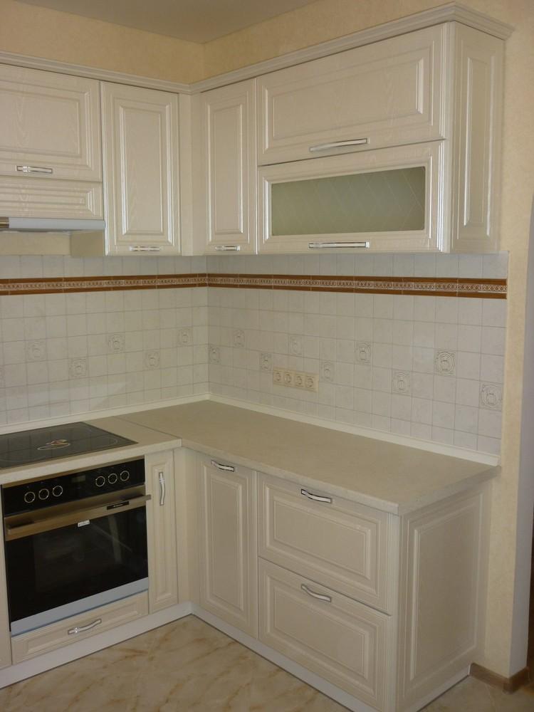 Белый кухонный гарнитур-Кухня МДФ в ПВХ «Модель 213»-фото3