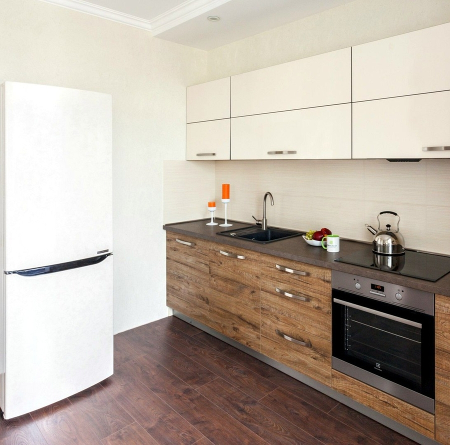 Акриловые кухни-Кухня из ЛДСП «Модель 417»-фото1