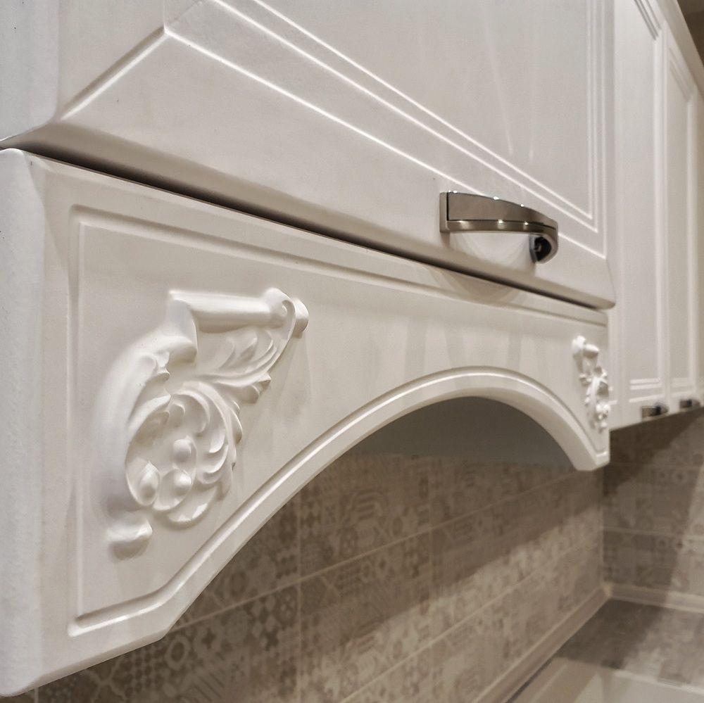 Белый кухонный гарнитур-Кухня МДФ в эмали «Модель 538»-фото8