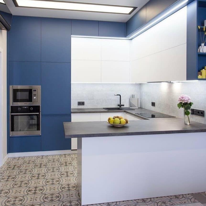 Белый кухонный гарнитур-Кухня МДФ в эмали «Модель 678»-фото1