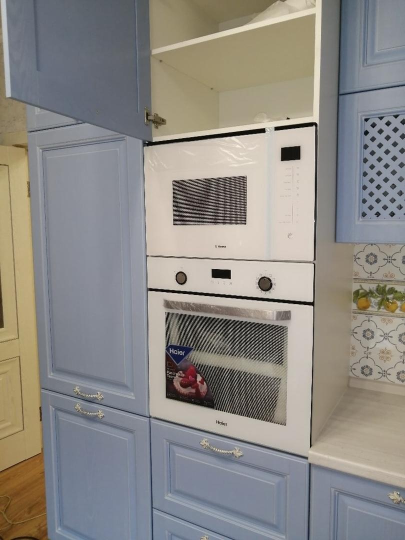 Классические кухни-Кухня МДФ в эмали «Модель 582»-фото4