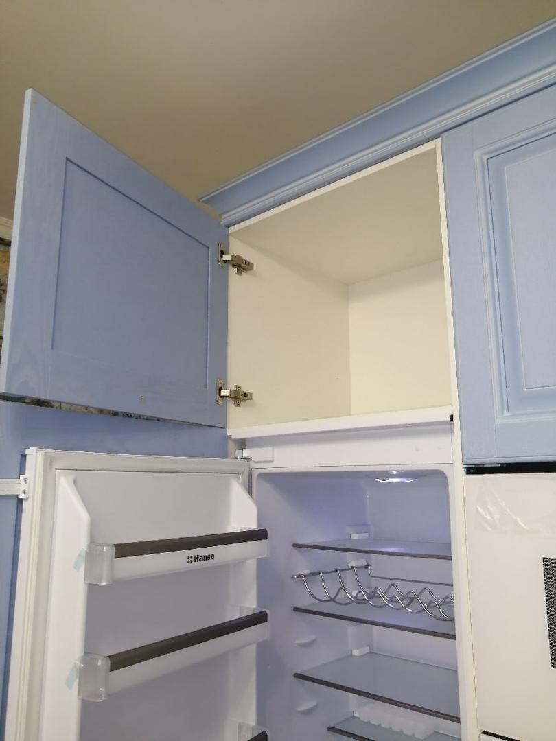 Классические кухни-Кухня МДФ в эмали «Модель 582»-фото5