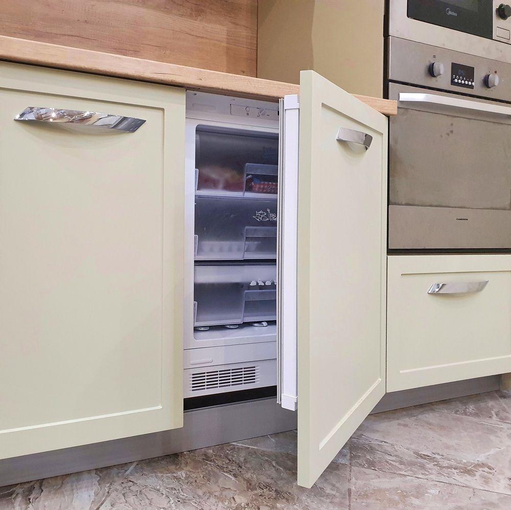 Бежевые кухни-Кухня МДФ в эмали «Модель 519»-фото7