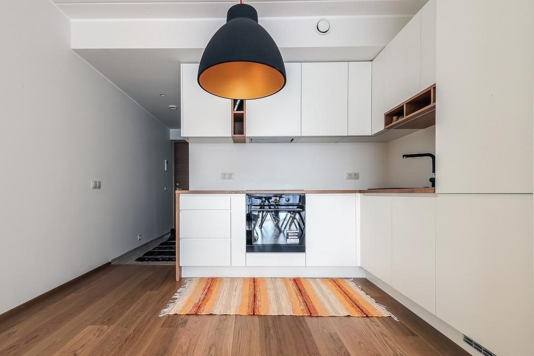 Белый кухонный гарнитур-Кухня МДФ в эмали «Модель 607»-фото3