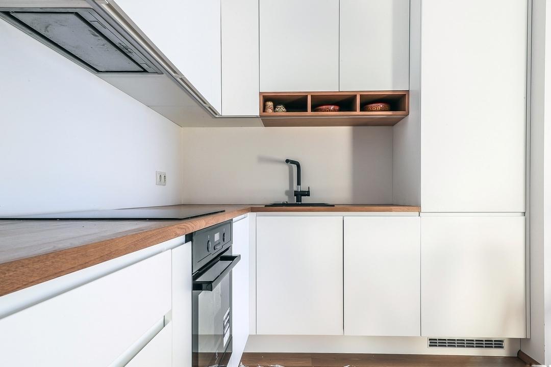Белый кухонный гарнитур-Кухня МДФ в эмали «Модель 607»-фото4