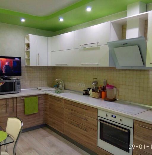 Встроенная кухня-Кухня МДФ в ПВХ «Модель 220»-фото5