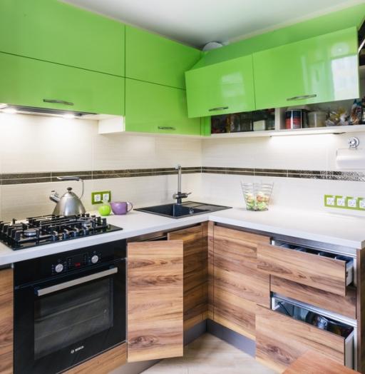 Глянцевые кухни-Кухня из ЛДСП «Модель 406»-фото5