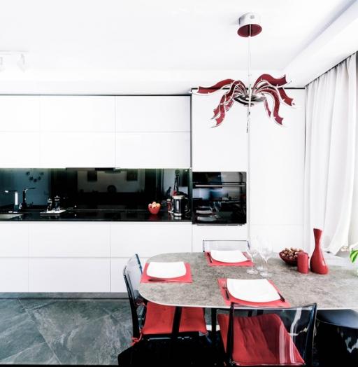 Белый кухонный гарнитур-Кухня из пластика «Модель 343»-фото5