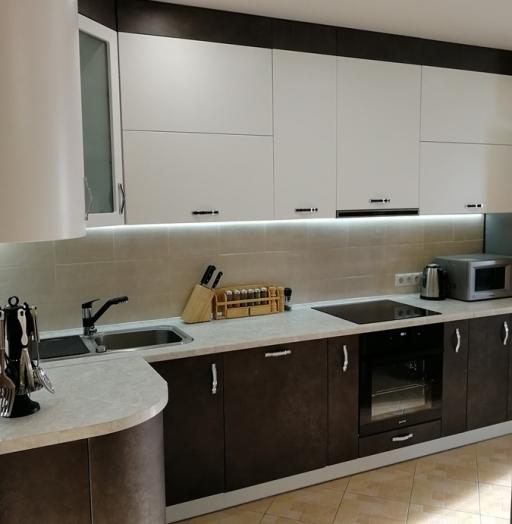 Комбинированные кухни-Кухня МДФ в ПВХ «Модель 27»-фото7