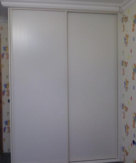 Белые шкафы-купе-Шкаф-купе из ЛДСП «Модель 222»-фото2